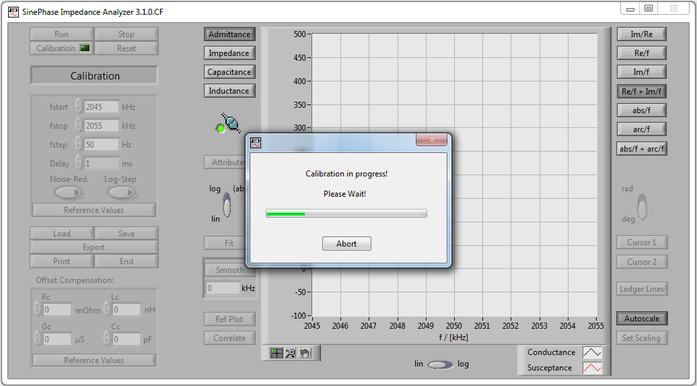 LCR Meter: SinePhase Impedance Analyzer - calibration