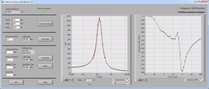 Monitoring frequency shift using SinePhase Impedance Analyzer